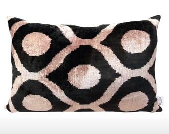 Velvet Ikat Pillow: Bubbles [various colors]