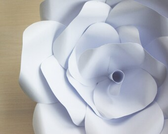 12 White Backdrop Flowers, Paper Backdrop Roses and Lotus, Paperflowers for Backdrop, Paperflowers on the Wall