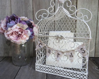 Wedding card Cage, card cage, card birdcage, decorative birdcage, shower card holder, birdcage card holder, wedding card holder