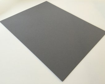 Dark Gray Card Stock 8.5 x 11 Premium Paper Smooth Acid Free 65 lb / 176 g/m2 Astrobright for scrapbooking paper supply diy multipack Pewter