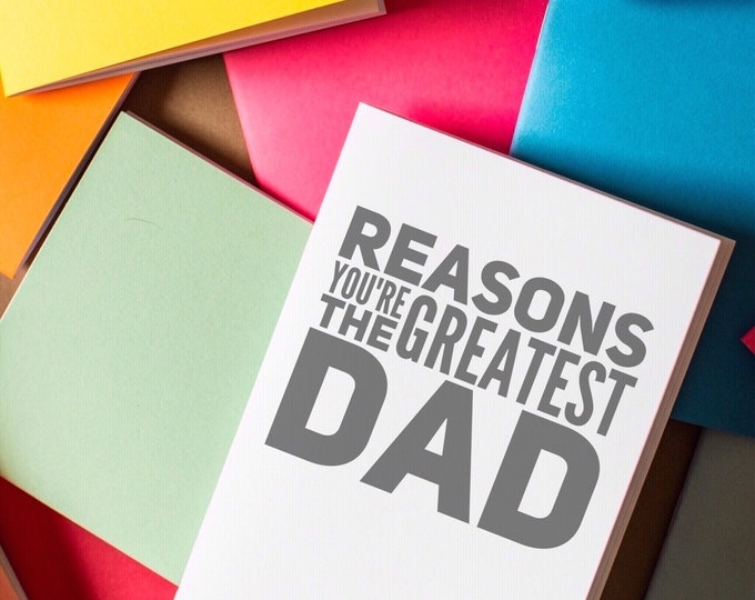 Dad Notebook - Reasons you're the greatest dad father's day journal diary notes gift