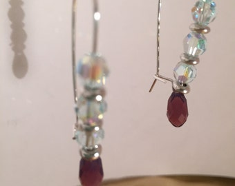 Sterling silver earrings with Swarovski crystals.