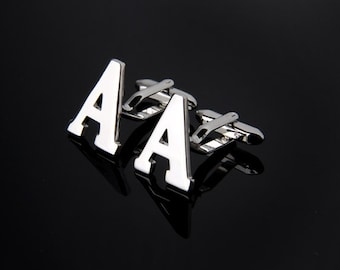 Initial Letters A-Z Novelty Gift Cufflinks