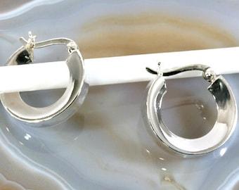 Hoops 925 sterling silver   --   6054
