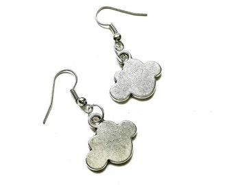 Silver Cloud Earrings // Cloud Earrings // Silver Jewelry // Weather Gift // Travel Jewelry