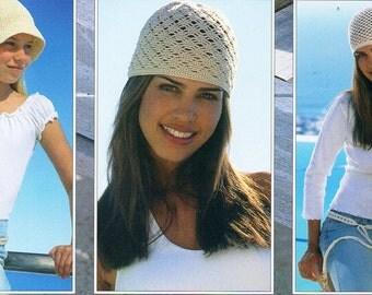 childrens & womens crochet hats crochet pattern 5 designs age 3-4 to adult DK / 4 ply womens crochet patterns pdf instant download