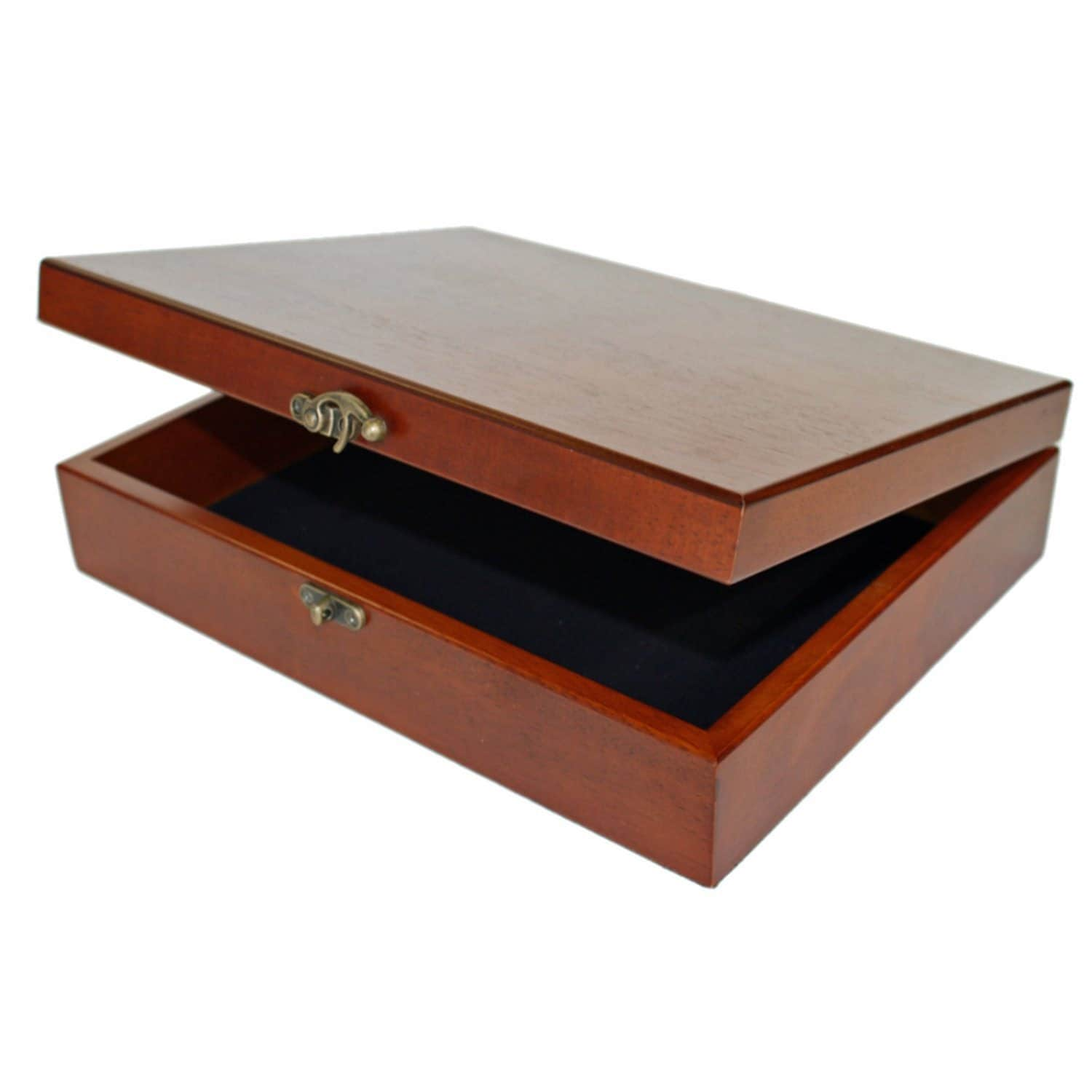 Amazon Small Decorative Boxes: Wood Pencil Case Wooden Pencil Box With Brass Latch Vintage