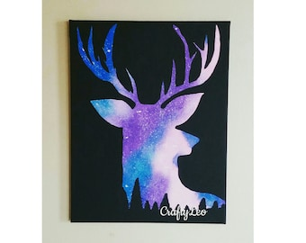 Galaxy Deer Painting