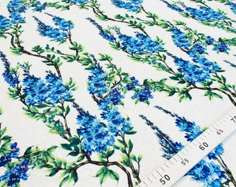 Lavender flowers  jacquard fabric by the yard #4429