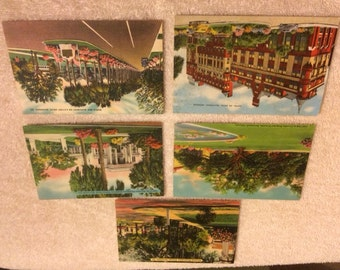 Lot of 5 Vintage Savannah, GA Postcards - 1940's - 1950's