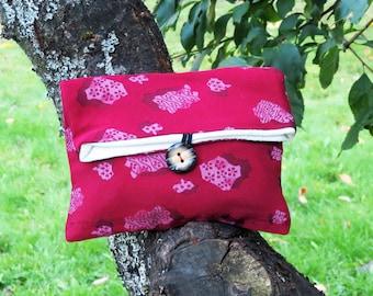 Red Silk Kimono Clutch