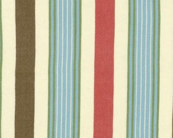 Moda Home On The Range Twill Turquoise Stripe Fabric