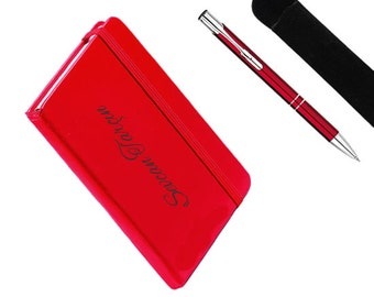 Personalized Notebook and Pen Set / Custom Name Engraved