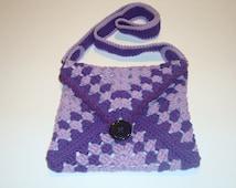 crochet bag crochet envelope bag shoulder bag crochet granny bag UK