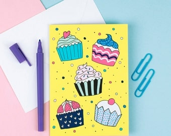 Cupcake Greetings Card