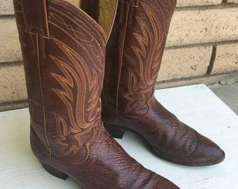 Vintage Justin Cowboy Boots Size 9D-9.5D