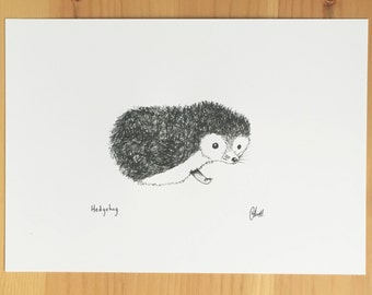 Little Hedgehog Sketch - Print