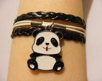 Panda bracelet, panda jewelry, baby panda bracelet, baby panda jewelry, fashion bracelet, fashion jewelry, bear bracelet, bear jewelry