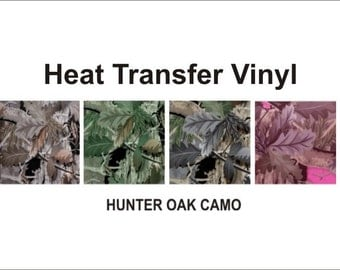 "CAMO Hunter Oak HEAT TRANSFER T shirt Vinyl 15"" X 12"" Iron On Camoflauge"