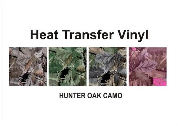 Camo Hunter Oak Heat Transfer T Shirt Vinyl 15 X