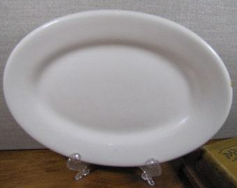 """Vintage Restaurant Ware Creamy White Platter - 10 1/2"""" - Wide Rim"""