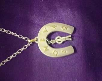 Runic Horseshoe necklace