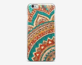Green Mandala iPhone 8 Case iPhone X Case iPhone 7 Plus Case iPhone 6 Case iPhone 7 Case iPhone 5 Case iPhone 4 Case Galaxy S8 Cover Phone