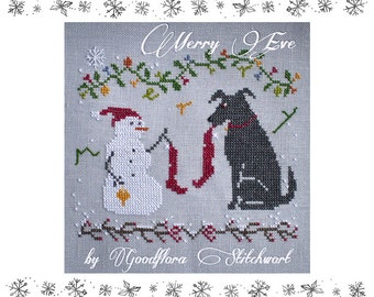 Cross Stitch Pattern ~ Merry Eve ~ Instant PDF Download!