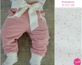 Baby girls pants trousers baggy pants pastel of Rosa stars dots heart corduroy toddler baby trousers with belt