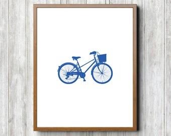 Blue Bike 8 x 10 Printable