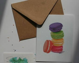 Greeting card, buttons