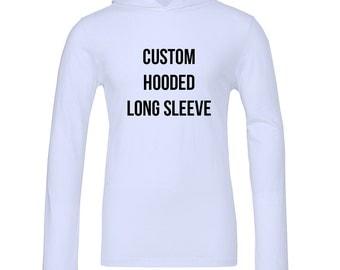 Custom Long Sleeve Hoodie