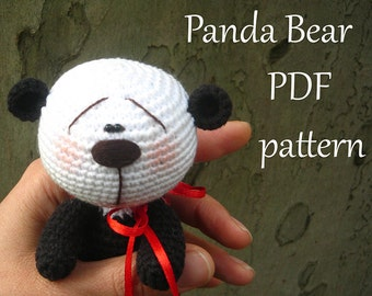 Amigurumi crochet Panda Bear pattern, PDF pattern, ENGLISH language