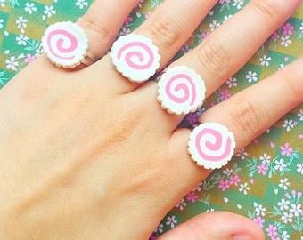 Narutomaki rings Naruto rings Naruto jewelry Japan style rings Harajuku style jewelry Tokyo fashion rings Japanese food rings Kawaii rings