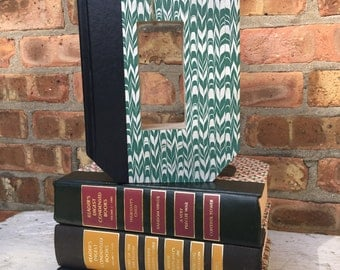Book Letter O....Custom Made Just For YOU!!!!  Letters created from actual Hardcover Books!!