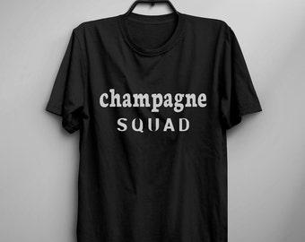 Champagne T Shirt sayings Funny TShirt Tumblr Tee Shirt for Teens Clothes instagram Graphic Tee Screen print T Shirt Men gift Women T-shirts