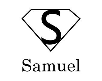 Kids Name Stamp - Superhero Stamp - Custom Name Stamp - Personalized Self-inking Stamp