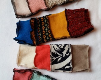 Choice of Fingerless Gloves from Recycled Sweaters