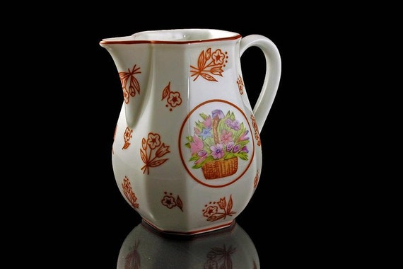 Small Pitcher, Creamer, Prestige Place, Made in Japan, Floral Pattern