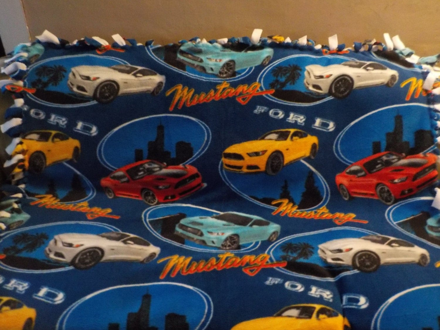 The ford mustang blanket is back under