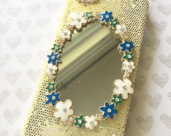 Mirror 3D bling phone case- 1pc Apple Iphone 5/5s Cell phone case sale
