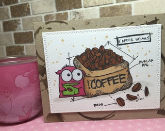 Card for coffee lovers - any occasion