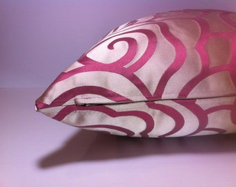 Rose jacquard pillow cover