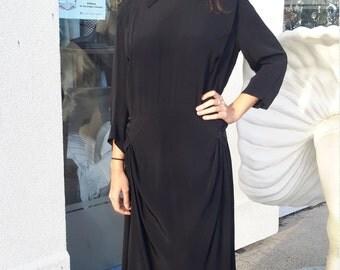 Authentic Vintage 1930's Black Dress