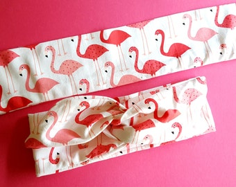 Pin Up Flamingo Hair Wrap - Penelope the Pink Flamingo Wire Headband