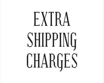 Extra Shipping Charges that you've been quoted
