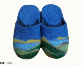 Slippers of wool, men's slippers, warm slippers, home slippers, handmade slippers