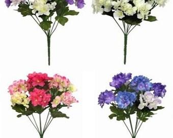 Artificial Flowers Hydrangea 35cm 8 Head Bunch