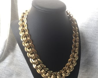 Vintage Monet Goldtone Necklace
