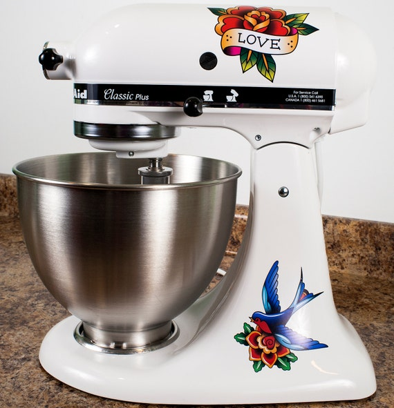 Kitchen Art Mixer: Love Bird Tattoo Art Style Kitchenaid Mixer Mixing Machine
